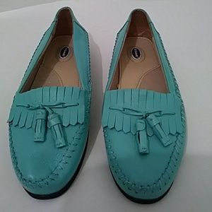 Dr Scholl's Tiffany Blue Tassel Loafers Insoles